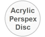 Clear Acrylic Perspex Disc