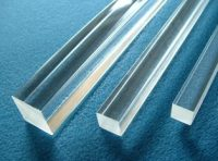 Clear Plastic Square Bar
